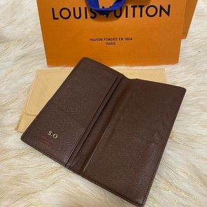 Bifold Checkbook Long Bifold Wallet